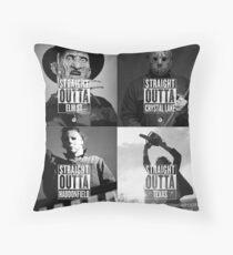 Horror Foursome Throw Pillow