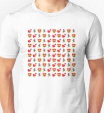 Love Snowboarding Emoji JoyPixels Snowboarder drôle T-shirt ajusté