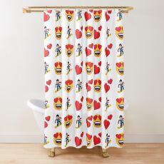 Love Snowboarding Emoji JoyPixels Funny Snowboarder Shower Curtain