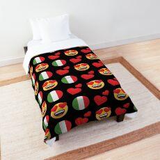 Love Italian Emoji JoyPixels Travel to Italy Comforter