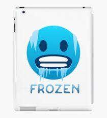 Frozen, Cold-Face emoji iPad Case/Skin