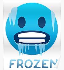 Frozen, Cold-Face emoji Poster