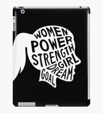 Women Power Emoji JoyPixels Dream Girl Goal White iPad Case/Skin