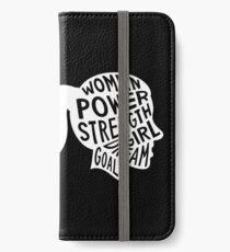 Women Power Emoji JoyPixels Dream Girl Goal White iPhone Wallet/Case/Skin
