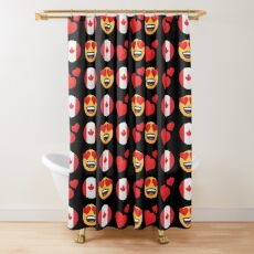 Love Canadian Emoji JoyPixels Travel to Canada Shower Curtain
