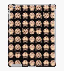 No Evil Monkeys Emoji JoyPixels Sweet Monke iPad Case/Skin
