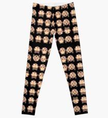 No Evil Monkeys Emoji JoyPixels Sweet Monke Leggings