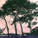 trees at lepe by DARREL NEAVES