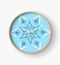 Snowflake Mandala Clock