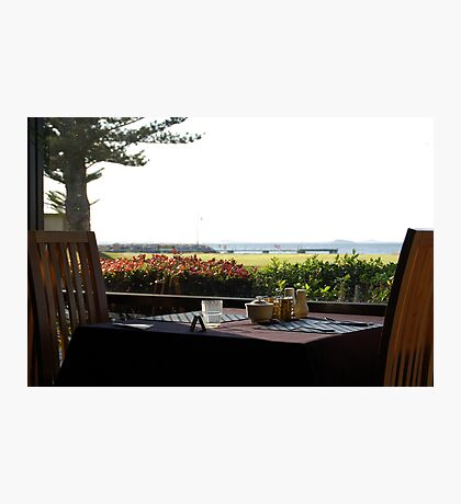 Breakfast By The Sea Photographic Print