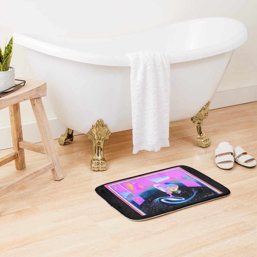 Exhibition in a Glass Bottom Starship Bath Mat