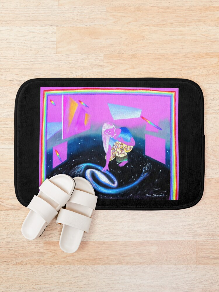 Alternate view of Exhibition in a Glass Bottom Starship Bath Mat