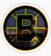 Bruins Spoked B & Boston Skyline Sticker