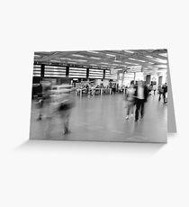 Departures, St Pancras International Station, London Greeting Card