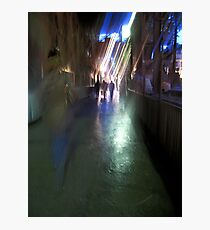After the rain-Paris sidewalk, early evening Photographic Print