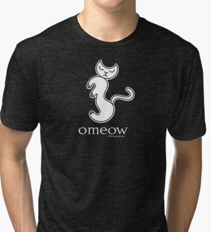 Om Cat Omeow Yoga T-shirt Tri-blend T-Shirt