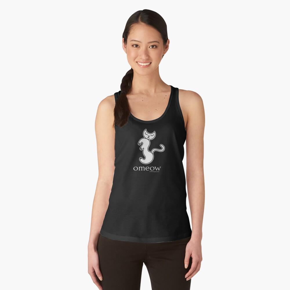 Om Cat Omeow Yoga T-shirt Women's Tank Top Front