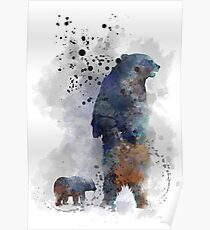 Mother Bear and Cub Poster