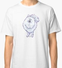 Animal Parade White Pomeranian Silhouette Classic T-Shirt