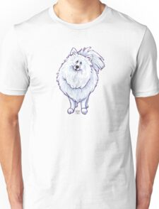 Animal Parade White Pomeranian Silhouette Unisex T-Shirt