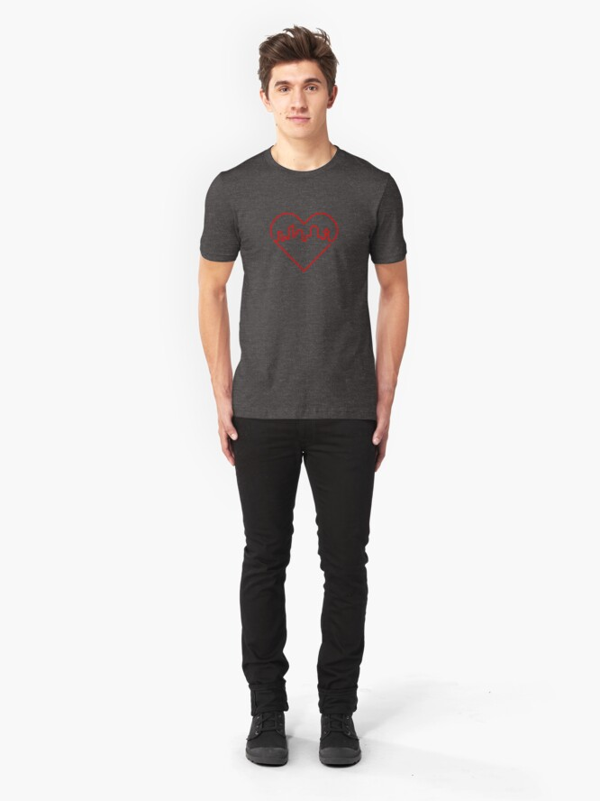 Alternate view of Heart City Slim Fit T-Shirt