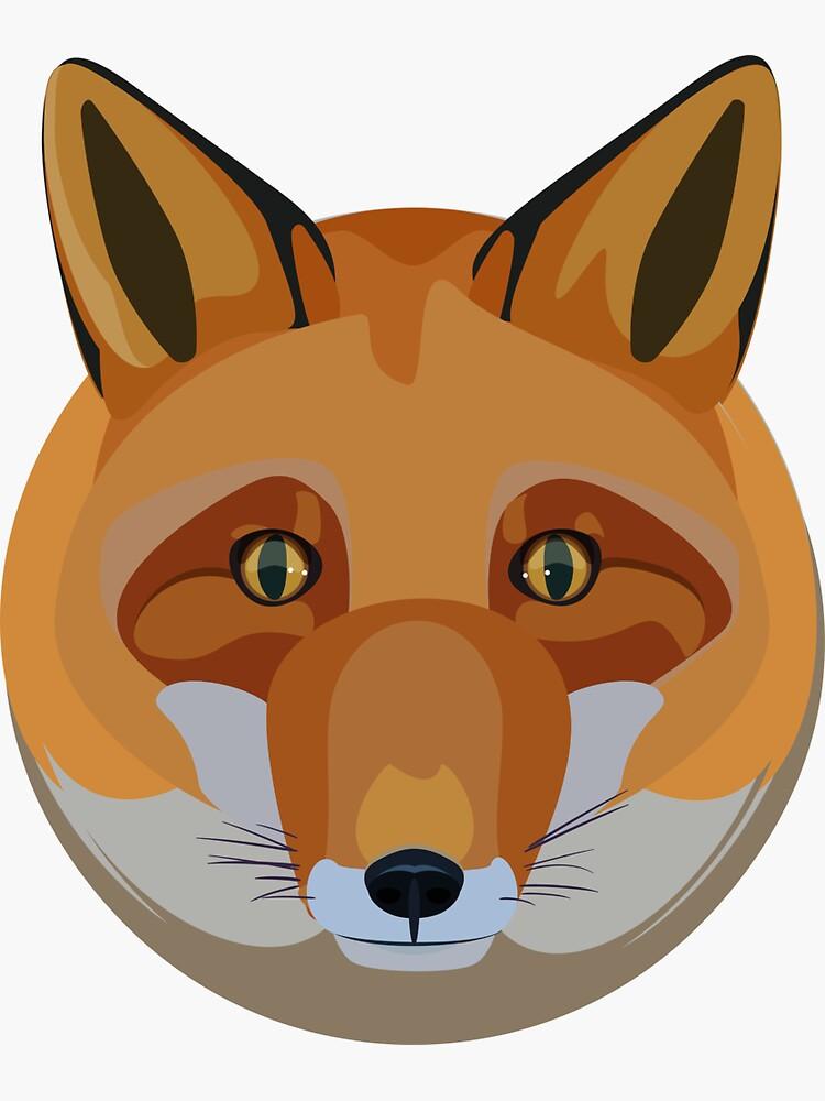 Fox head by a-roderick