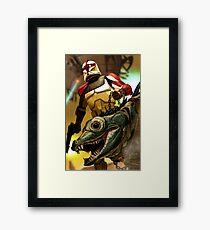 Star Wars Clone Trooper with Massiff Framed Print