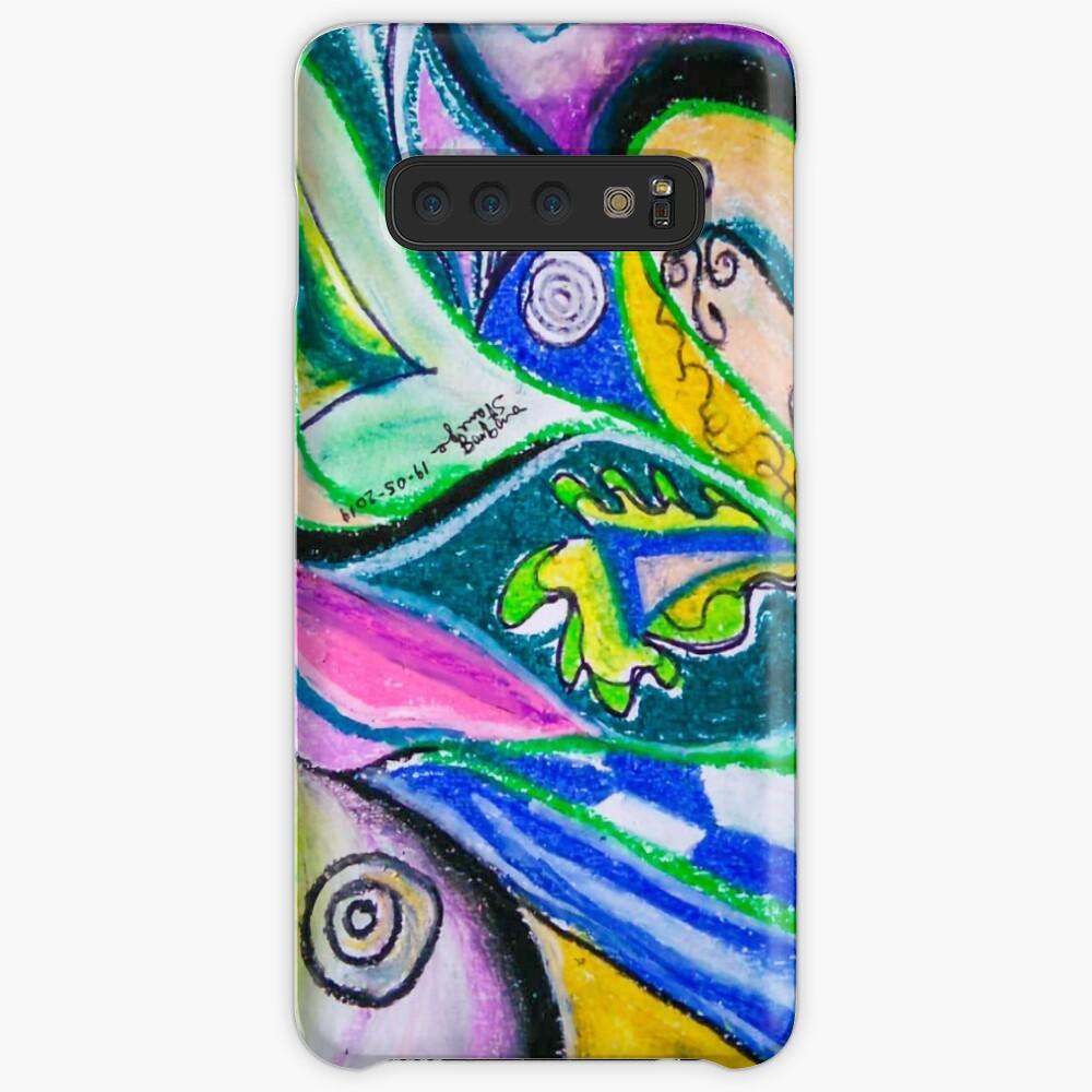 Blue Green Tones Movement Abstract Samsung Galaxy Snap Case