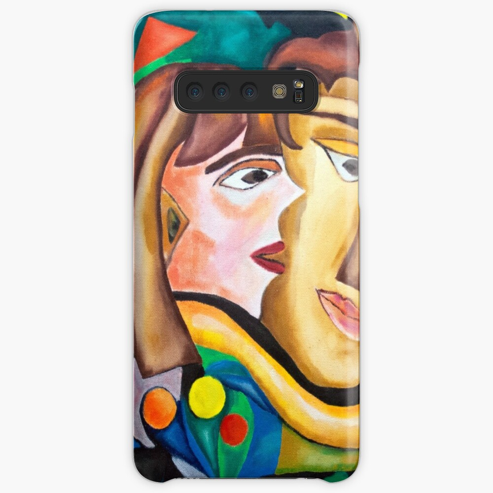 abstract kissing woman Samsung Galaxy Snap Case