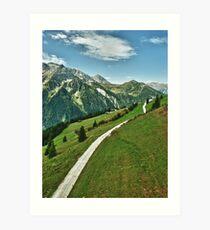 Hiking in Tirol Art Print
