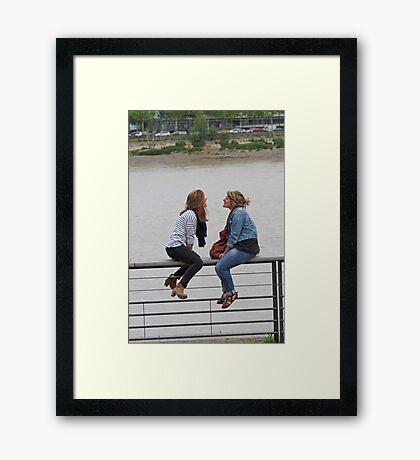 Between Friends Framed Print