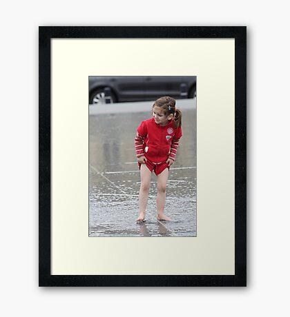 Don't Get Wet! Framed Print