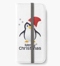 Merry Christmas Penguin Emoji iPhone Wallet/Case/Skin