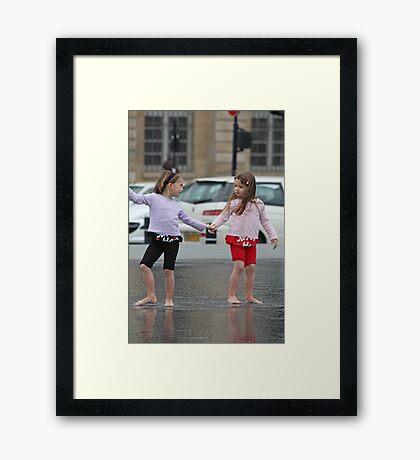 Twin Girls Framed Print