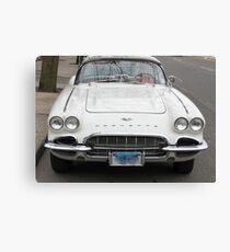 Old 1962 Corvette Front Canvas Print