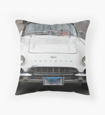 Old 1962 Corvette Front Throw Pillow