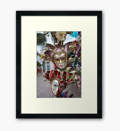 A Bounty of Masks Framed Print