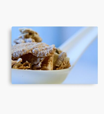 Cereal in a spoon Canvas Print