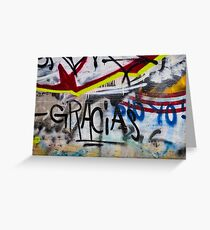 Abstract Graffiti Wall Art Photography - Gracias Greeting Card