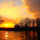Golden River Tees Sunset, 27-March-2011 by Ian Alex Blease