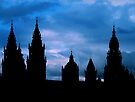 Churches against the sky in Santiago de Compostela by Jasna