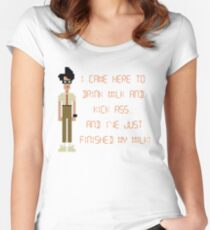 The IT Crowd – I Came Here to Drink Milk and Kick Ass Women's Fitted Scoop T-Shirt