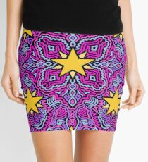 Stars on Pink Joypixels World Emoji Day Mini Skirt