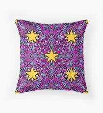 Stars on Pink Joypixels World Emoji Day Throw Pillow