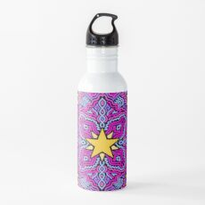 Stars on Pink Joypixels World Emoji Day Water Bottle