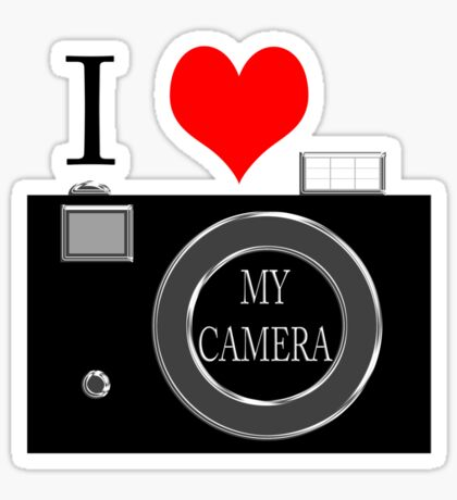 I love my camera Sticker