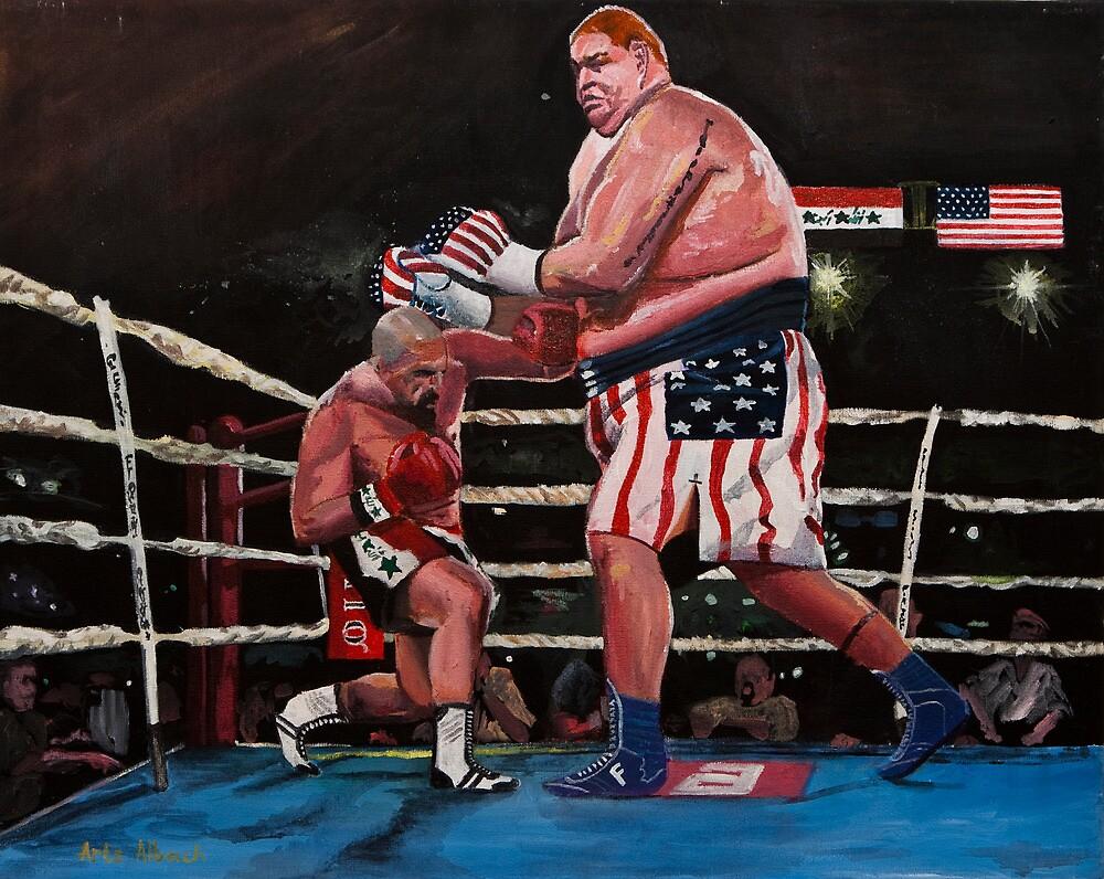 """Iraq VS America"" (Globalization)  by Arts Albach"