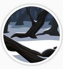 Snowy Trees Sticker