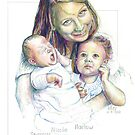 Mother and Children Equals Love by Jan Eker