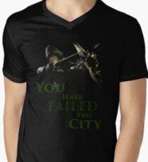 Green Arrow - You have failed this city Men's V-Neck T-Shirt